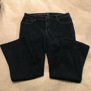 8c39dc0c29b Dress Barn Woman Jeans. Size 16 Boot Cut.